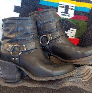 Frye women's black harness bootie, size 9 1/2